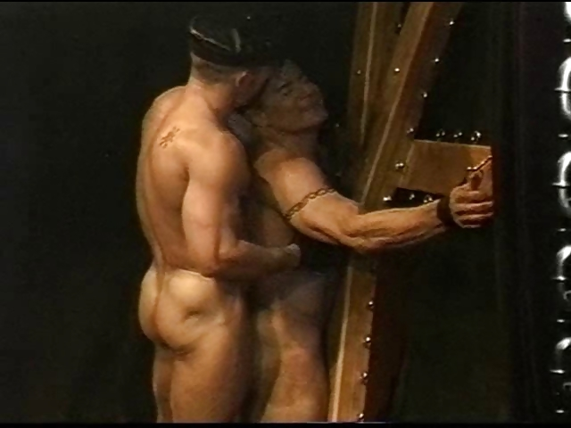 Porno Video of Muscle Stud On St Andrews Cross Flogged By His Real Life Partner.