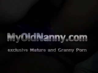 Granny getting fucked with a strapon