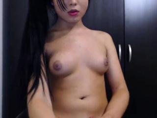 Gorgeous Asian Transsexual Masturbates on Cam