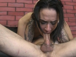 whore ava kelly chokes from deepthroating big...