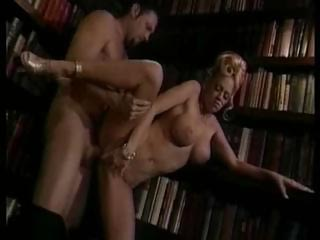 Sex Movie of Vintage Jenna Jameson Library Fuck Scene