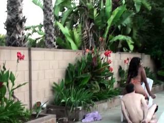 Femdom Ebony Commands Her Slave