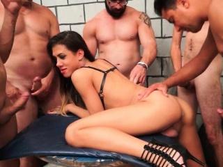 Latina Shemale Gabi Ferrari Gangbang Act