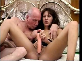 Porn Tube of British Slut Fucks Dirty Old Man