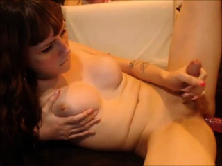 Cute SheMale pleases herself until she cums