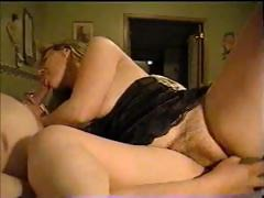 sizzling blond chic dana gets her cunt polished by horny daddy