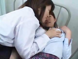 Japanese Lesbian Fucking Hairy Pussy Each Other