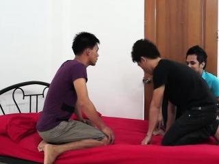 Asian Twinks Gay Bareback Sex Orgy
