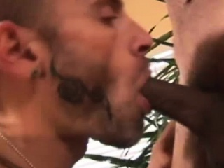 curious guy try a black cock
