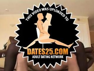Hot ebony big tits gangbanged by white cocks
