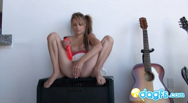 Porno Video of Tatttoed Emo Teen Laney Playing With Her Dildos