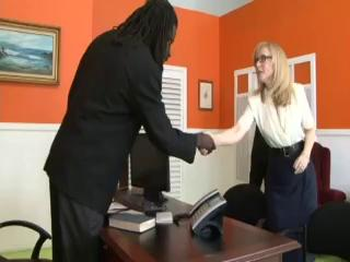 Therapist Watches Milf Nina Hartley Fuck Huge Cock