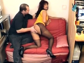 pale stud interviews his gorgeous ebony secretary. that big