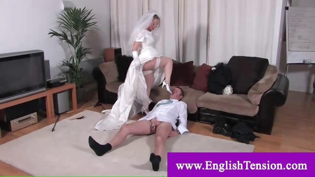 Porn Tube of Dominant Bride Taking Advantage Of Groom