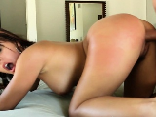 Bikini slut doggystyled hard until cumontits