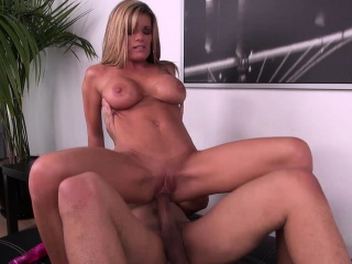 blonde honey kristal summers rides, blows, and goes doggy on cam