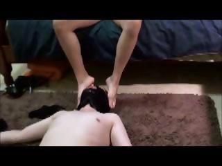 Asian Mistress Jane Piss on Slave