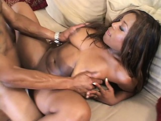lusty brunette opens her thighs to welcome a thick cock into her creamy snatch