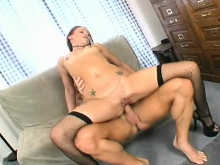 submissive young slut enjoys a hard drilling and gets a nasty creampie