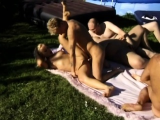 two cock-hungry chicks get naughty and start fucking outdoors