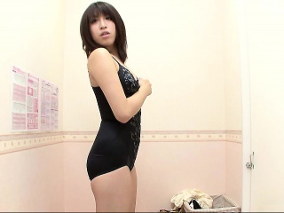 slender young hottie tries on a sexy outfit after taking of
