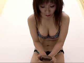 busty asian chick gets naked and tries on a bikini on hidde