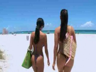 Porn Tube of Ava And Miss Raquel Meets Guys At The Beach