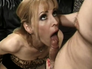 mature blonde with nice tits eats cock and gets drilled by it