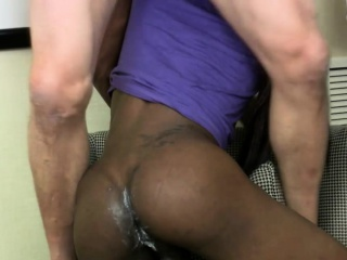 Black shemale star with big ass has craving for white dick