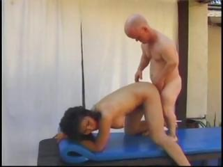 Porn Tube of Mature Asian Bitch Rosy Rocket Has Some Fun By The Pool With A Midgets Cock And Toys His Ass