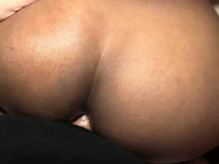 Ebony shemale fucking dude and gets jizzload