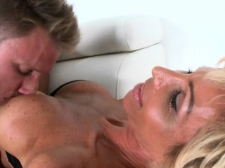 Mature Hottie Lyla Gets Fingered And Licked By Young Stud