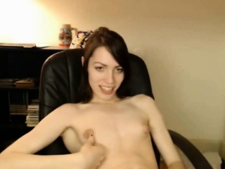 Lovely Young Shemale with small boobs