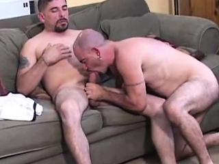 Senior Gay Bears Give Each Other Blowjob