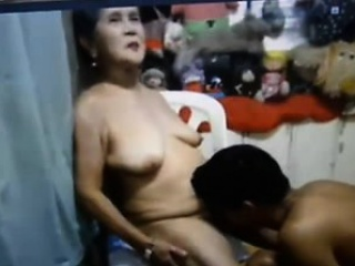 Asian granny with young boy Lory from 1fuckdatecom