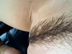 Секс в чёрно розовых чулках