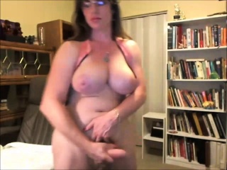 Busty Shemale Amateur With a Big Cock