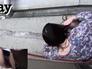 Hairy asian pee alleyway