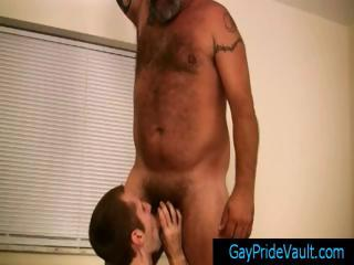 Mature bear fucks cute part2