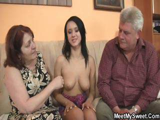 Porno Video of Nasty Girl Fucking With Her Bf's Old Parents