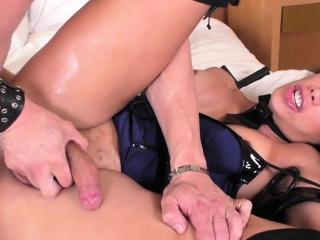 Tgirl cop Juliana have erotic anal sex