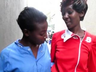 Ebony sluts pleasure each other