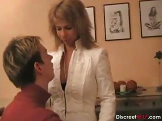 Porno Video of Hot German Mom Teaches Boy