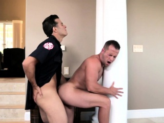hunky amateur tricking fireman to fuck anal