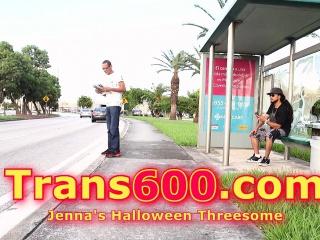 Shemale Jenna Halloween 3some