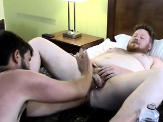 Gay men double fisting Sky Works Brocks Hole with his Fist