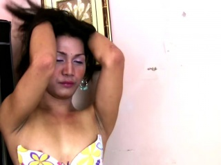 Ladyboy mistress enjoys long cock deep inside her anal hole
