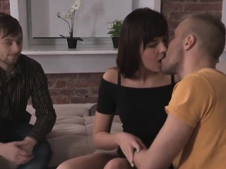 bankrupt stud lets spicy pal to bang his ex-gf for dollars
