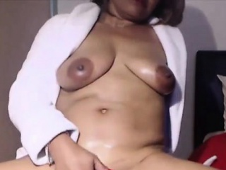 Exotic mature ebony Portia fingering oiled black vagina