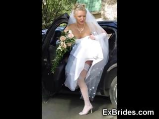 Lesbian gloryhole brides bukkakke covered 10